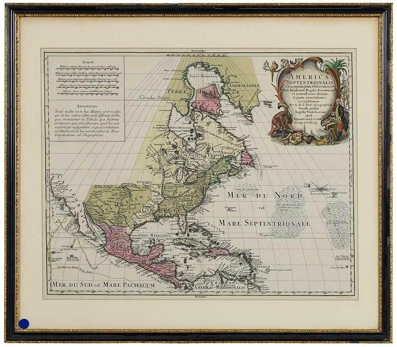 19th Century Map of North America