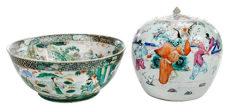 Two Chinese Export Porcelain Objects