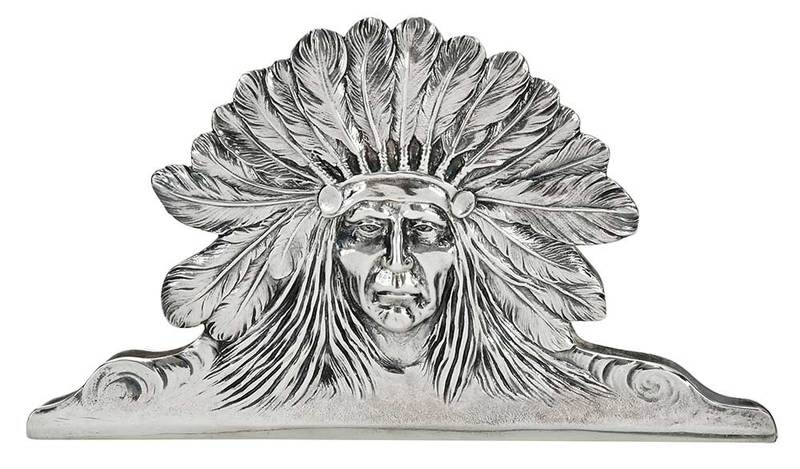 Sterling Native American Desk Clip