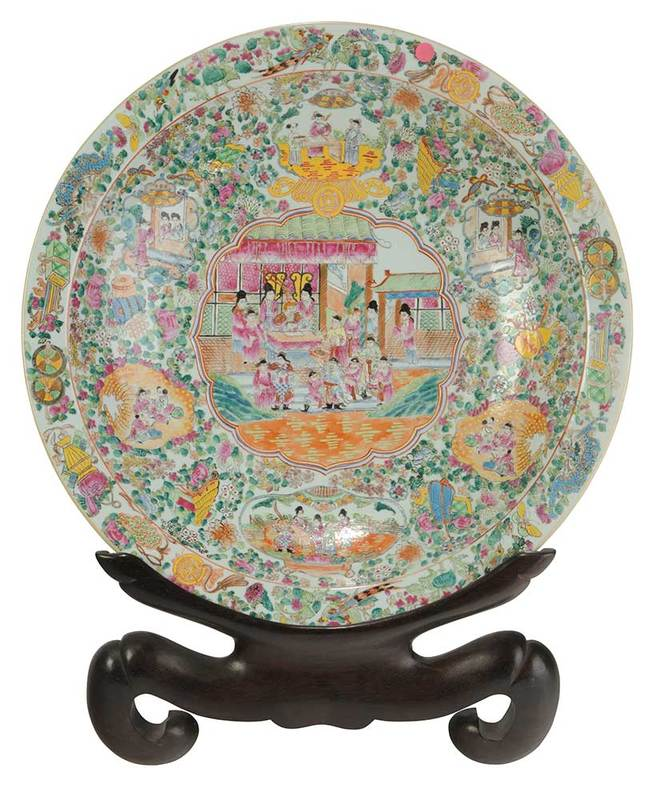 Monumental Famille Rose Porcelain Charger