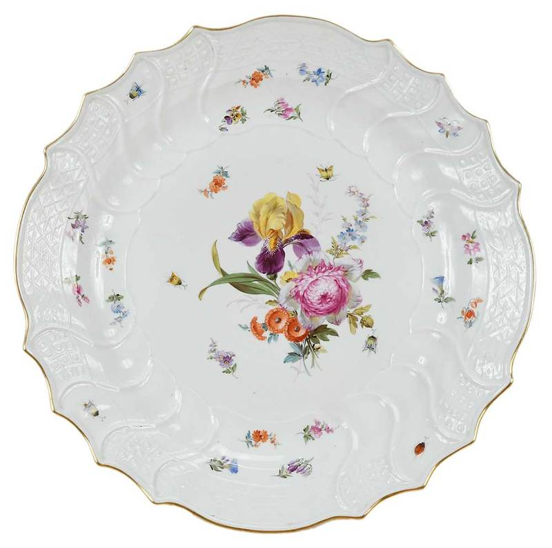Meissen Hand Painted  Porcelain Charger