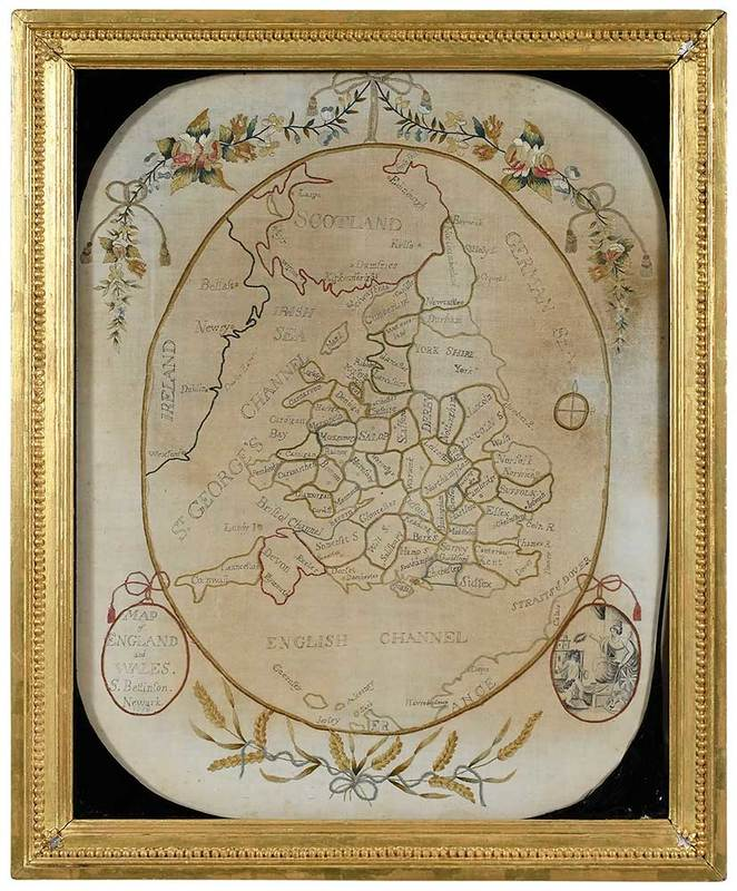 1798 Map Sampler England and Wales