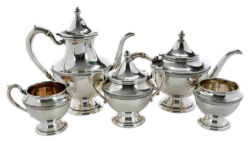 Five Piece Sterling Tea Set