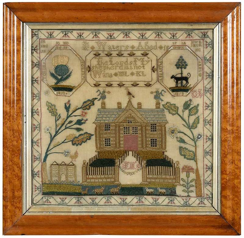 Scottish House Needlework with Coat of Arms