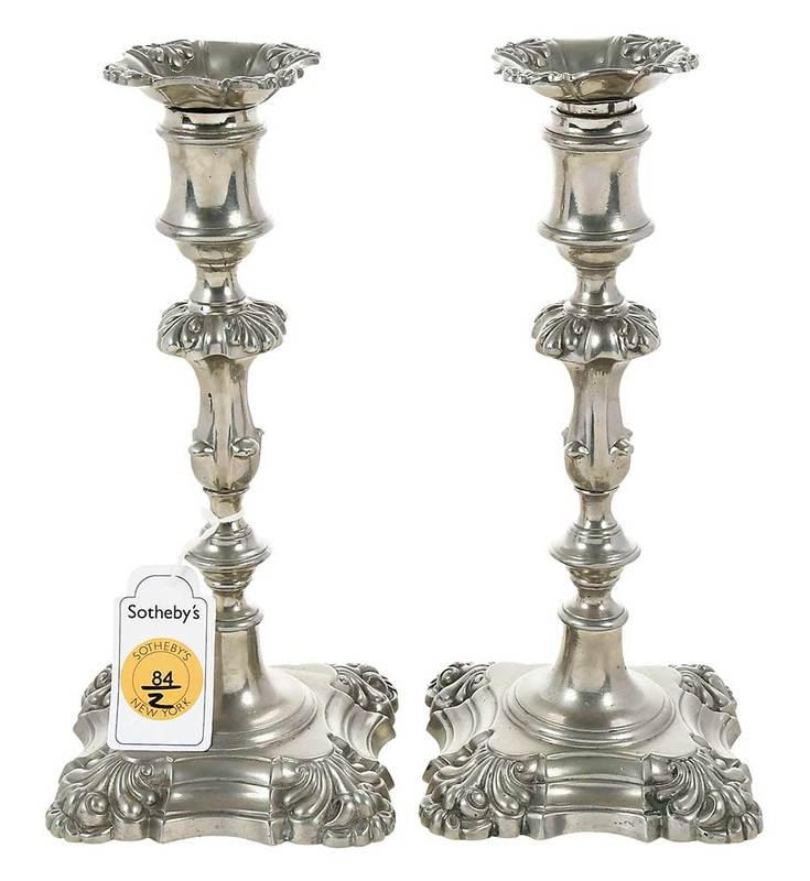 Pair of Paktong Candlesticks