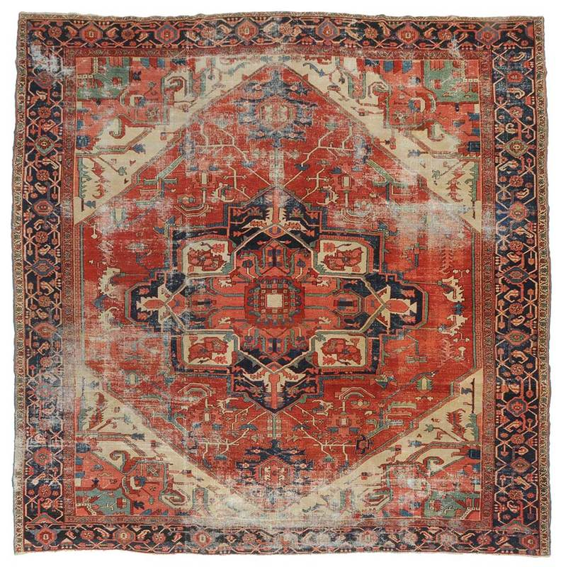 Nearly Square Serapi Carpet