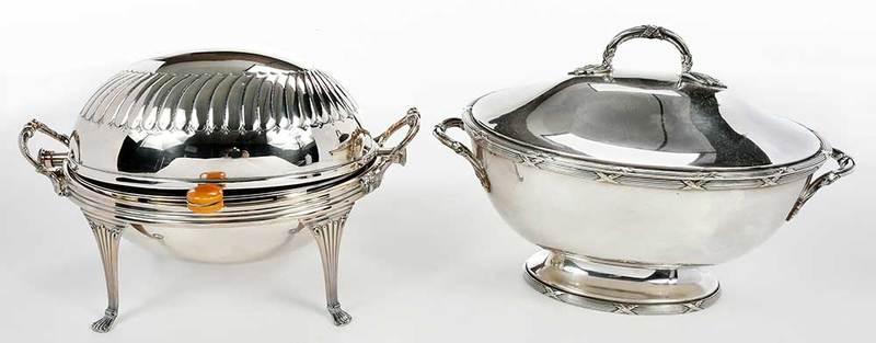 Two pieces silver plate
