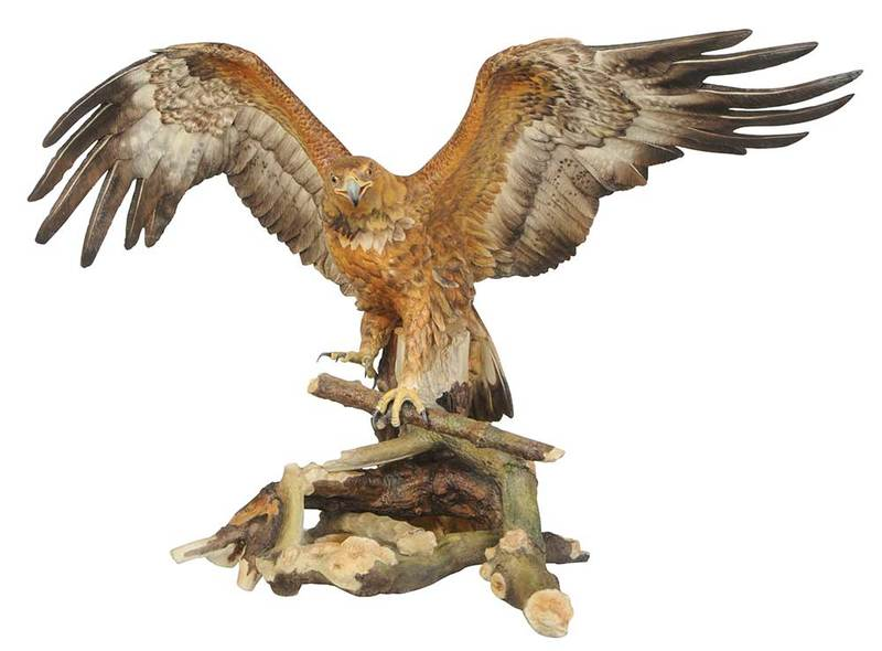 Monumental Boehm Golden Eagle with Case