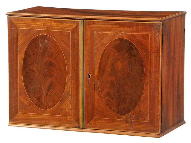 Federal Inlaid Mahogany Collector's Cabinet