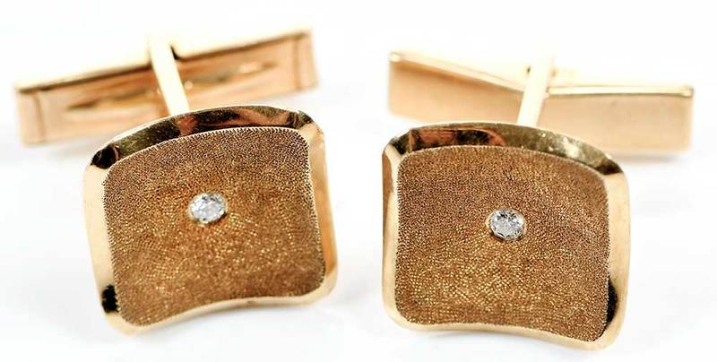 14kt. Gold Diamond Cufflinks