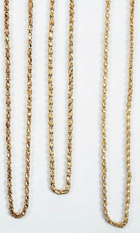 Three 14kt. Gold Chains