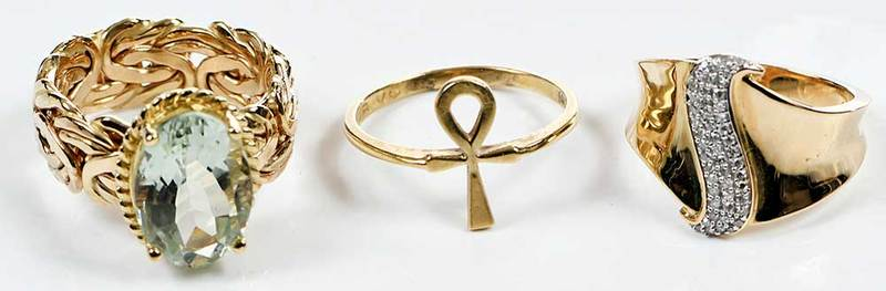 Three 14kt. Gold Rings
