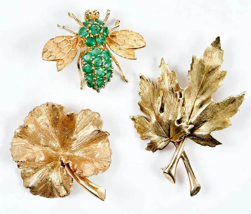 Three 14kt. Gold Brooches