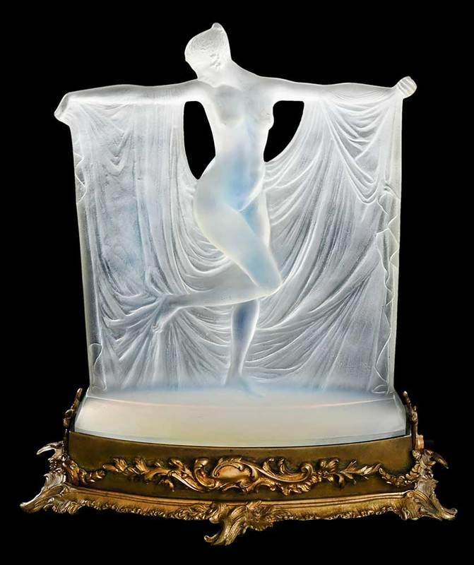 R. Lalique Suzanne Opalescent Glass Figure