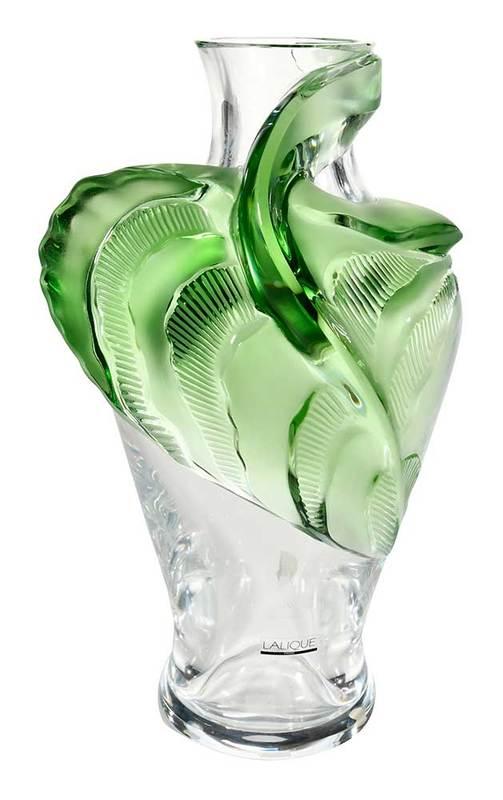 Lalique Tanega Glass Vase