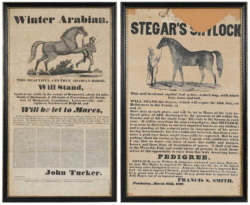 Two Virginia Horse Breeding Broadsides