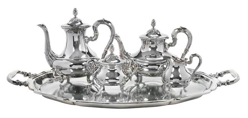Five Pieces Sterling Tea Service