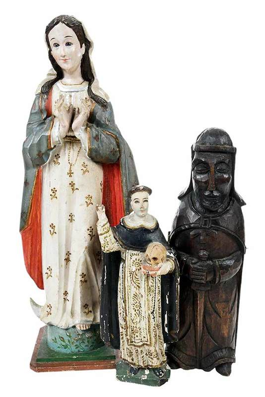 Three Religious Carved Figures