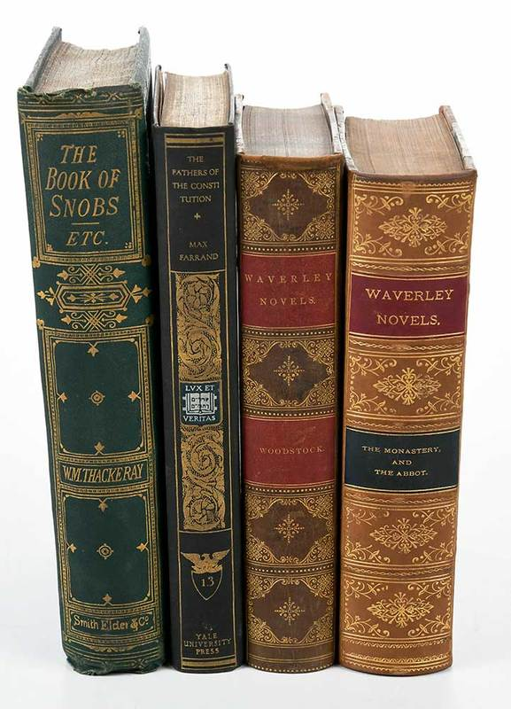 Four Sets of Books, Some Leather Bound