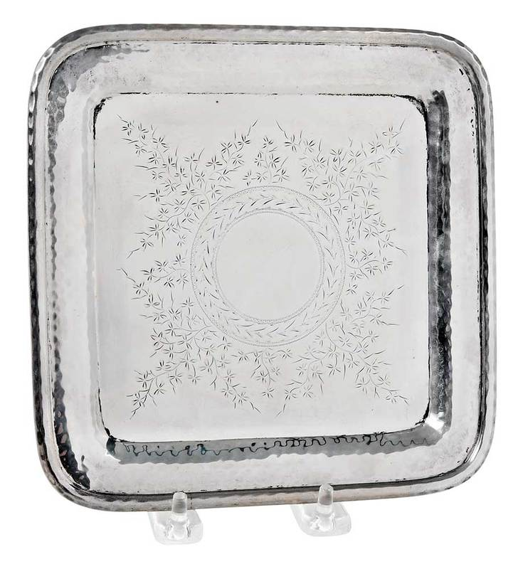 Black Starr & Frost Sterling Footed Tray