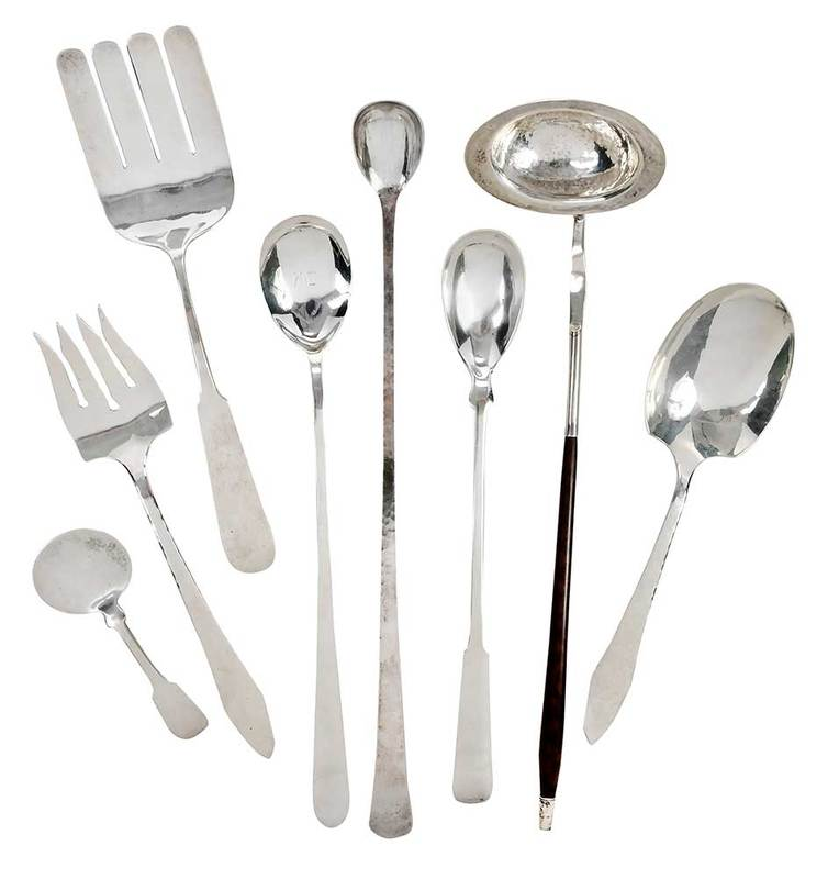 Eight Pieces Sterling Serving Pieces