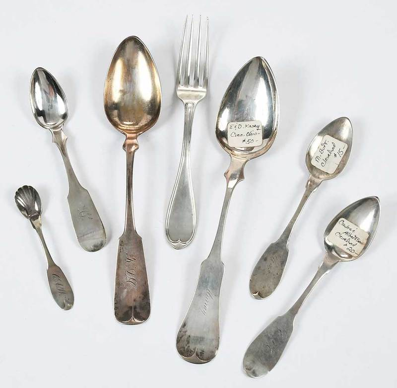 Ohio Coin Silver Flatware, Approx. 44 Pieces