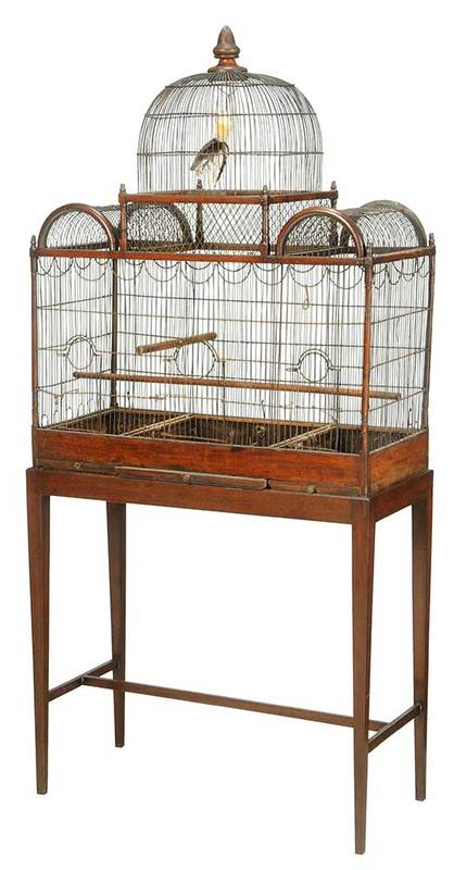 Georgian Carved Walnut Birdcage