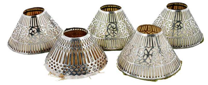 Tiffany Sterling Shade and four Silver Plate