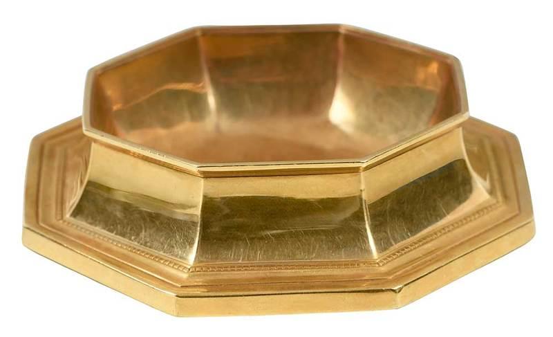 Tiffany 18Kt Gold Pin Tray