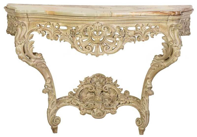 Louis XV Style Carved and Painted Console