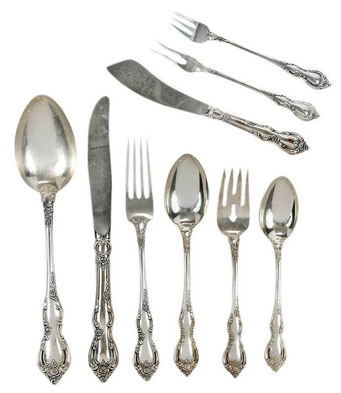 Towle Spanish Provincial Sterling Flatware, 113 Pieces