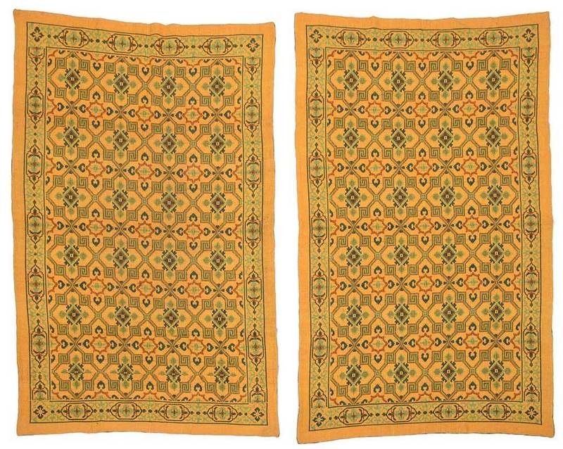 Pair Indian Dhurrie Cotton Rugs