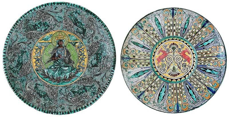 Two Large Majolica Platters