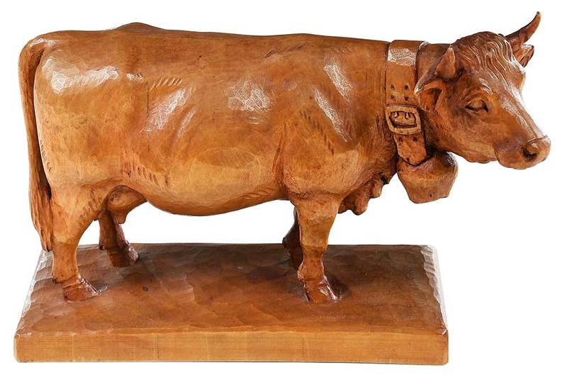 Black Forest Carved Cow