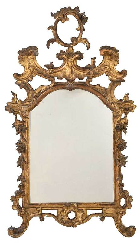 Fine Rococo Carved and Gilt Mirror