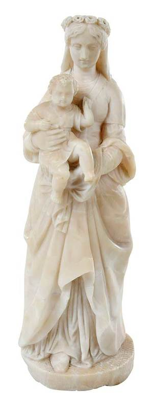 Alabaster Devotional Sculpture