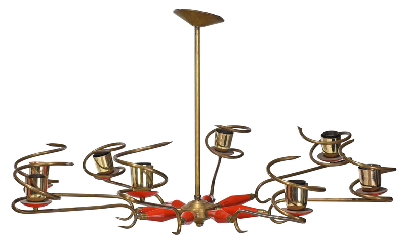 Mid Century Modern Eight Arm Chandelier