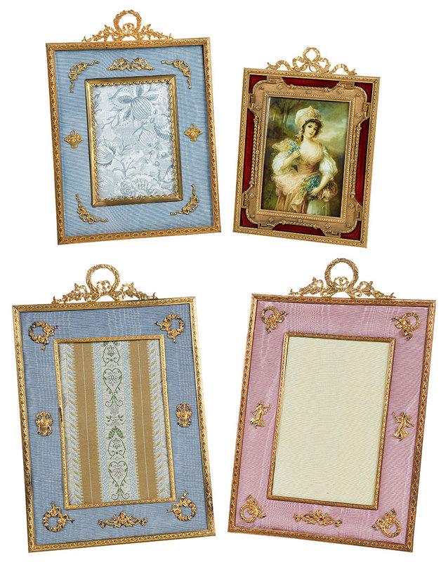 Four French Doré Bronze Frames