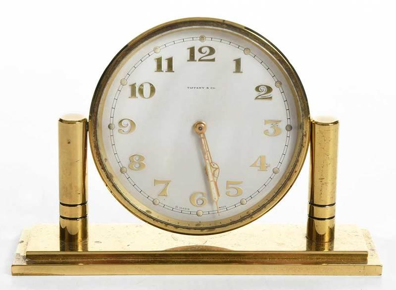 Vintage Tiffany & Co. Brass Desk Clock