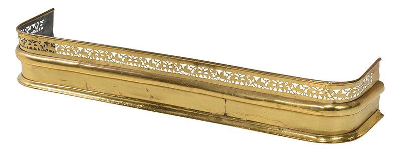 Pierced Brass Fire Fender
