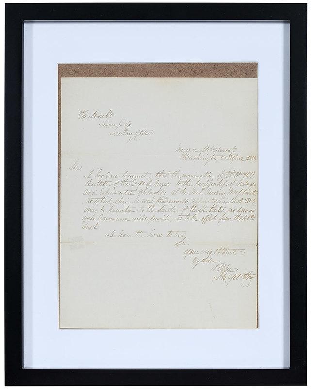 Robert E. Lee Signed Letter