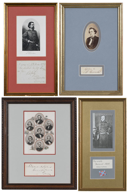 Four Georgia Confederate Signatures