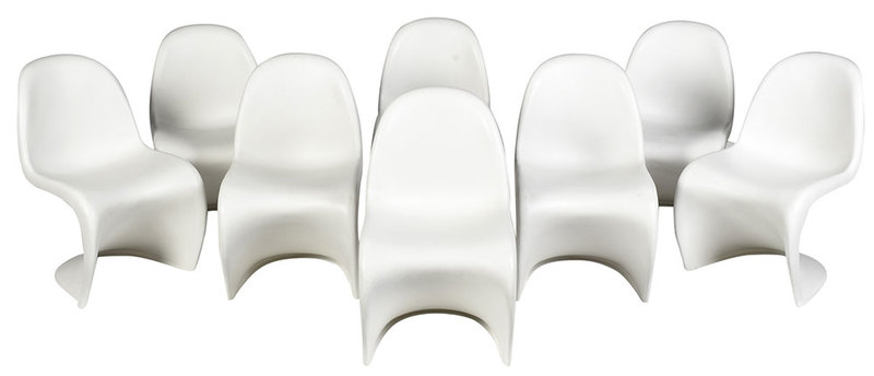 Eight Vitra Panton Side Chairs by Verner Panton