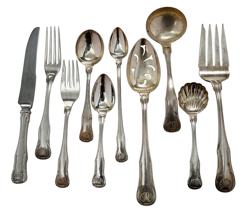 Kirk King Sterling Flatware, 65 Pieces