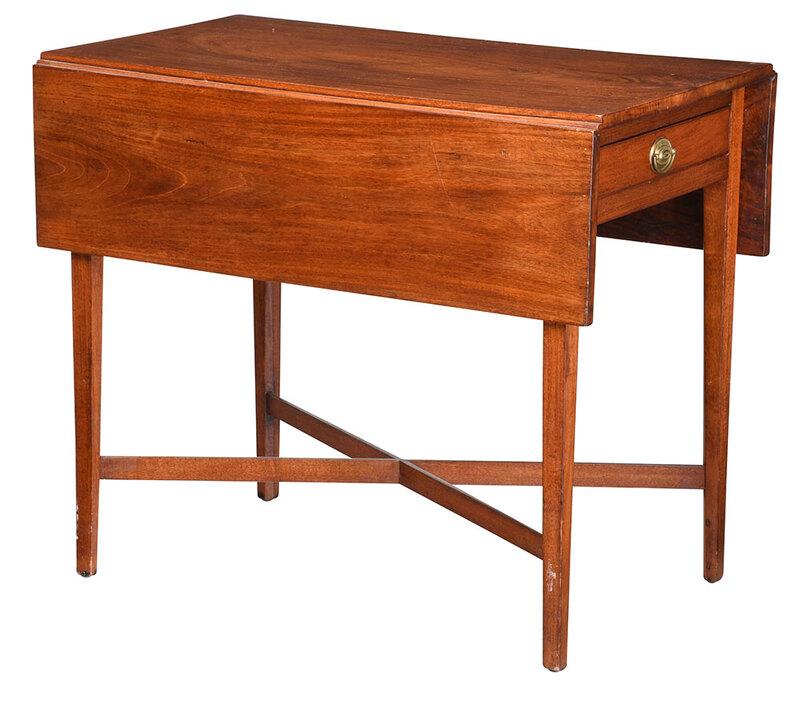 American Federal Figured Mahogany Pembroke Table