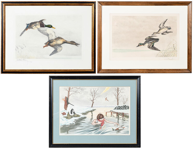 Three French Sporting Prints