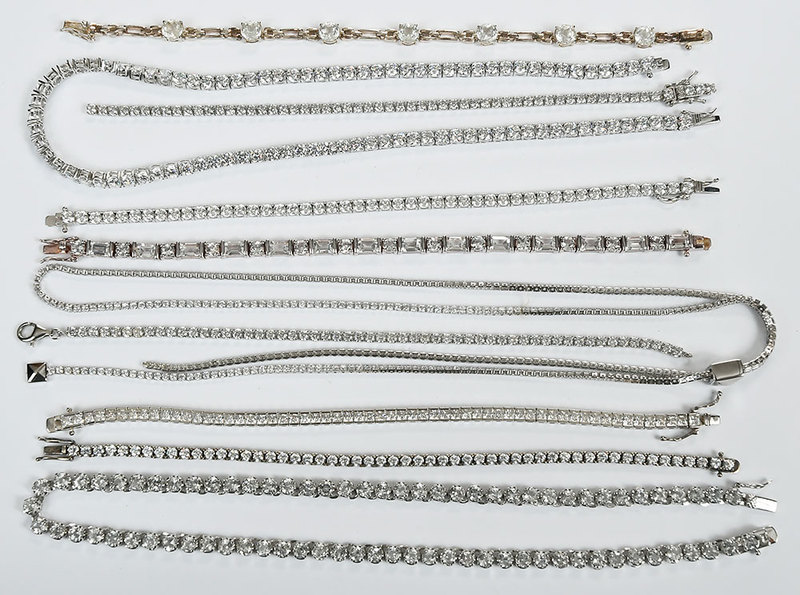 10 Sterling Silver Bracelets and Necklaces