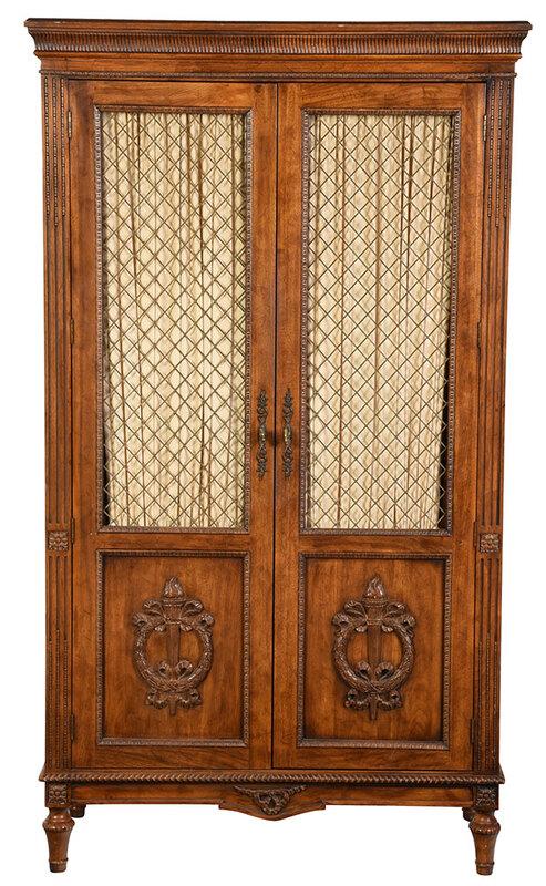 Italian Neoclassical Style Grille Door Cabinet