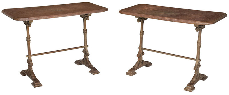 Pair of Victorian Style Cast Iron Tables