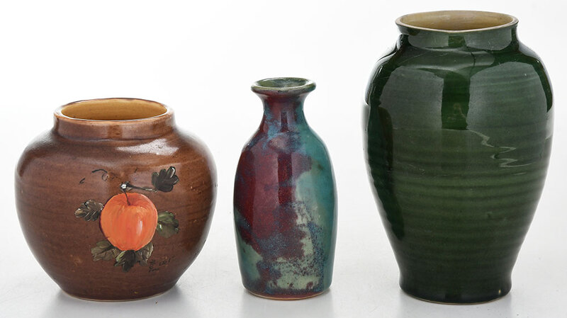 Three Pieces Pisgah Forest Pottery